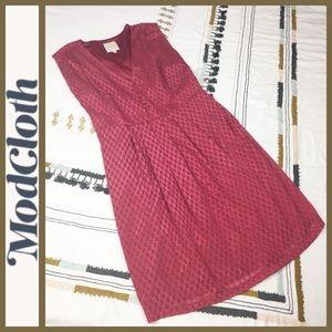 NWT! [ ModCloth ] Chevron Buttons Dress w/ Belt XL